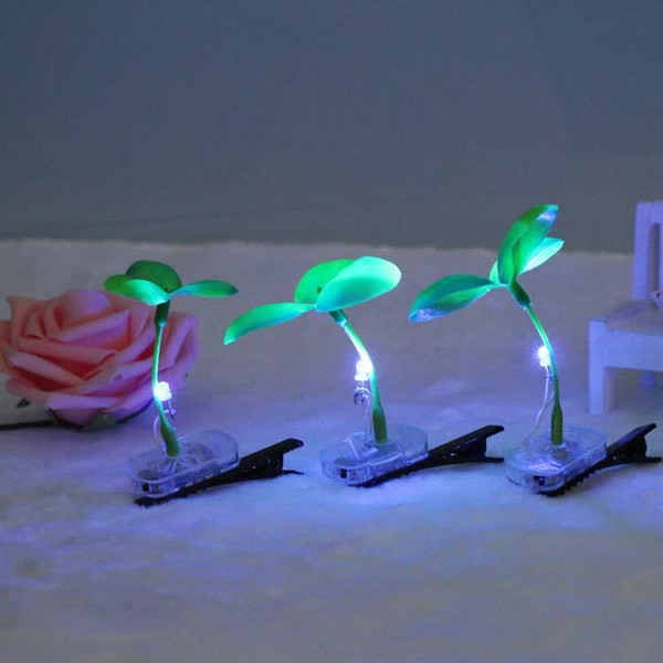 Christmas Eve New Colorful LED illuminated headwear sell Meng sell artifacts Funny head long grass germination folder