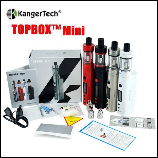 Top quality Kangertech topbox mini Starter Kit 75w Kbox mod 4ml Top Filling Sub Ohm Tank Temp Control Kit clone KangerTech Beginner Kit