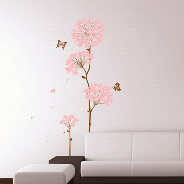 Hydrangea Wall Stickers Decoration Removable Wallpaper Children Kid Room Cute Hot - Sale Decor Large Adhesive Child Sticker