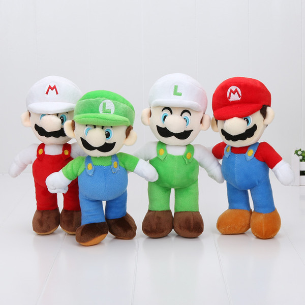 top popular 10'' New High Quality 100pcs Lot Super Mario Bros Stand MARIO & LUIGI Plush Toys Stuffed Toy Doll 2019