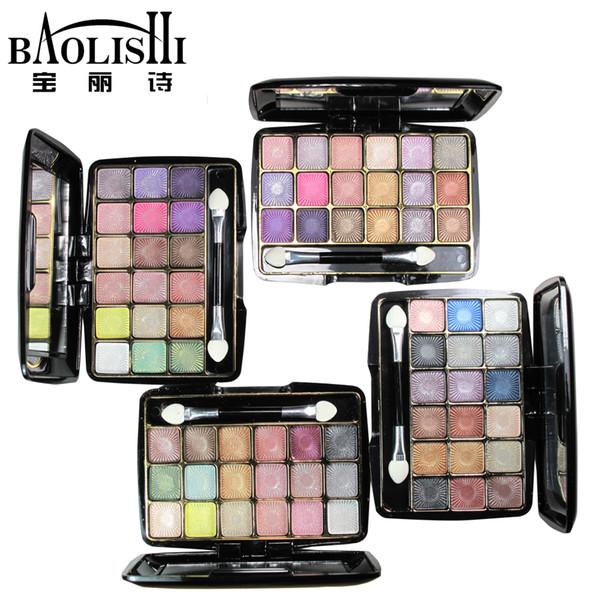 Toptan-baolishi colourpop 18 renk mat göz farı paleti dumanlı glitter göz farı çıplak tonları gölge kraliçesi marka makyaj kozmetik