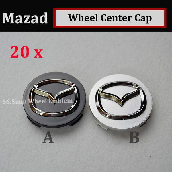 20PCS good quality 56mm emblem Auto Wheel Hub Emblem Caps for CX 5 7 9 RX MPV MX Car Wheel Center Covers