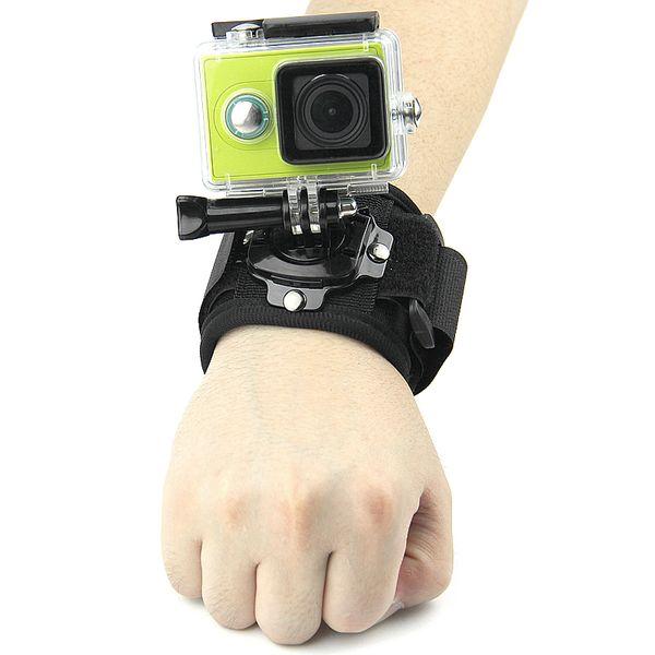 For Gopro Accessories 360 degree Rotation Wrist Hand Strap for Go pro Hero6 Black 5 4 3+ 2 SJCAM SJ4000 Xiaomi Yi Camera Black