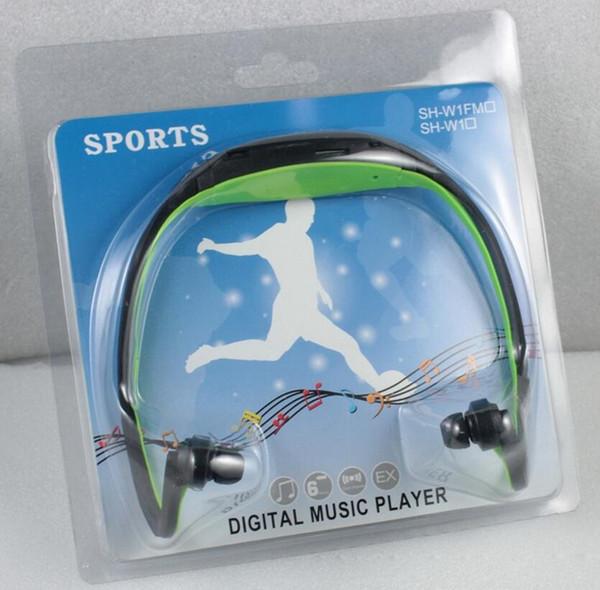2017 New Sport MP3 Player Wireless Headset Headphones Music Player Neckband Headset Support Micro SD/TF Card + FM Radio
