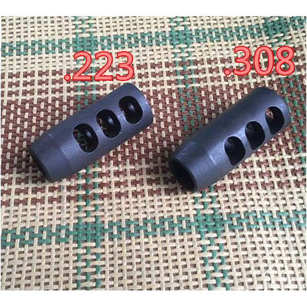 .223 .308 TPI Carbon Threads Competition Steel Muzzle Brake for 1 2x28 5 8x24 With Crush Washer