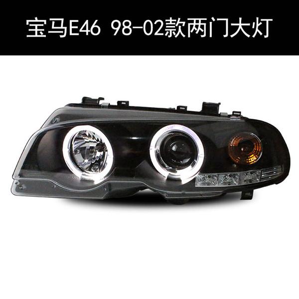 FOR Xiushan SONAR BMW three series two door E46 headlight lens optical angel eye modified xenon headlight assembly