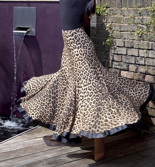 2019 style ballroom big swing leopard modern dance costumes flamenco skirt ballroom dance skirts women's ballroom skirt tango waltz skirt