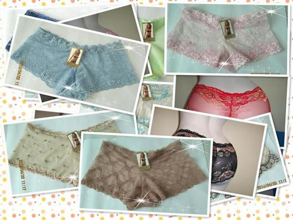 Variety of styles mixed wholesale Women G-String Sexy lace pants The plain waist leg pants Ventilation bikini Elastic transparent Underwear