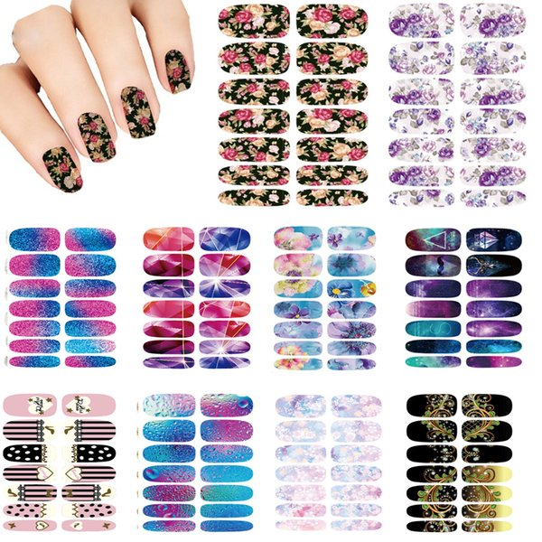 Wholesale Nails Art Flower Mystery Galaxies Design Stickers For