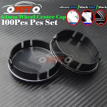 100pcs hot sale 2.52inch black/silvery blue/black blue car wheel center hub caps car emblem for XC90 XC70 XC60 V40 V50 V60 V70 V90 S40 S50