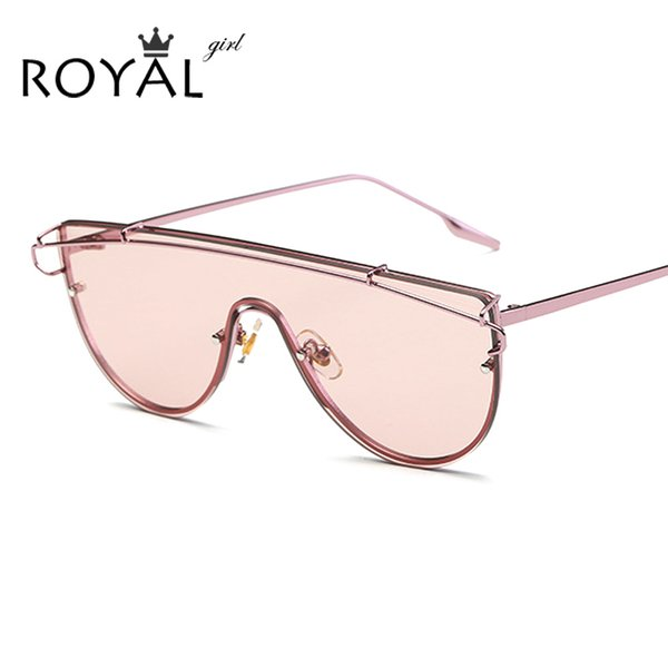 Occhiali da sole per donna all'ingrosso ROYAL RAGAINE Flat Top Cat Eye Designer originale di marca Doppio ponte Vintage Copper Frame Occhiali da sole SS937