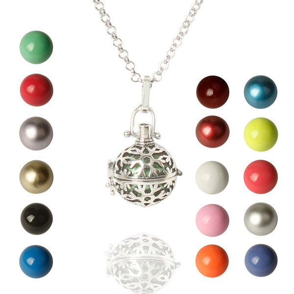 Copper Harmony Caller Musical Pregnancy baby belly Chime Bola box Bell ball pendant Fetal education angel caller necklace