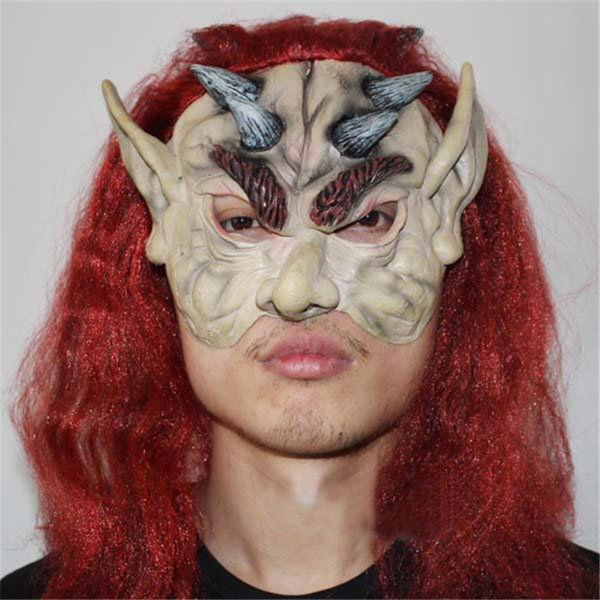 Free Shipping2017 Top Grade 100% Latex Full Face Melting Zombie Mask Bloody Undead Horror Mask Adult Latex Scary Insane Halloween Ghost Mask