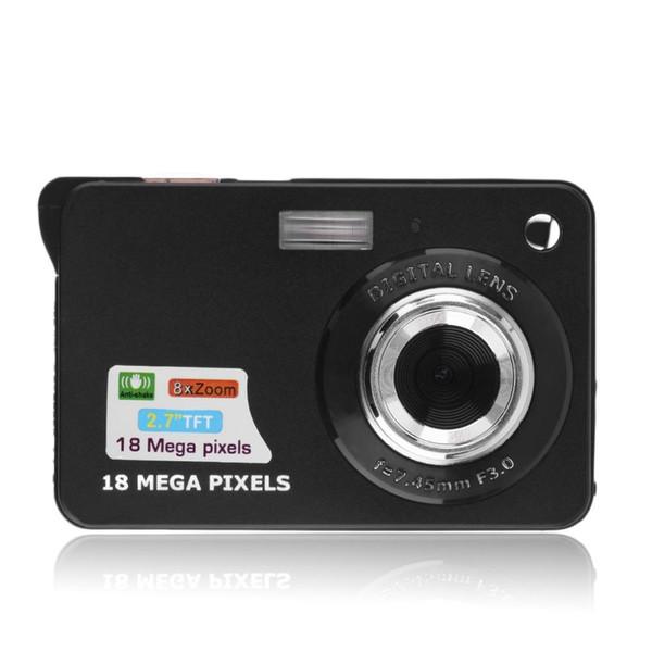 "Wholesale- New 2.7"" TFT LCD Display 18MP 720P 8x Zoom HD Digital Camera Anti-Shake Camcorder Video CMOS White US Professional Camera Gift"