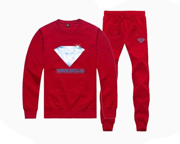 H97866415 Hot-sale Diamond Supply Sweatshirts +PANTS suit for Men and Women Fleece Lined Hip Hop Tracksuits hoodies S-5XL
