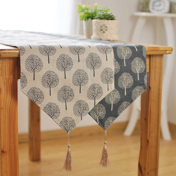 Bz379 new modern style linen cotton table runner irregular bz379 new modern style linen cotton table runner irregular decoration plant printed cloth table runners with junglespirit Image collections