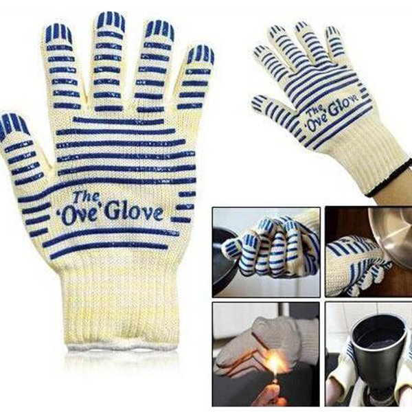 best selling 2017 chirstmas Quality the Ove Glove Microwave oven Glove 540 F Heat Proof Resistant Cooking Heat Proof Oven Mitt Glove Hot Surface Handler