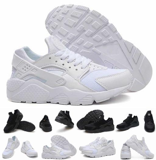 Hot Sale Air Huarache Ultra Running Shoes For Women Men,Mens White Triple Black Huaraches 1 Sports Sneakers Trainers Huraches Shoe 36-46
