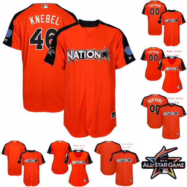 stitched mlb jersey 46 corey knebel jersey national league 2017 all star game brewers