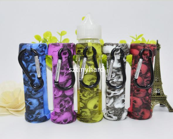 60ml Eliquid Unicorn Bottle Silicone Rubber Cover 100% Food Grade Skull Head E Juice Silicone Skin Carrying Sleeve Case Dropper Bottle Cases