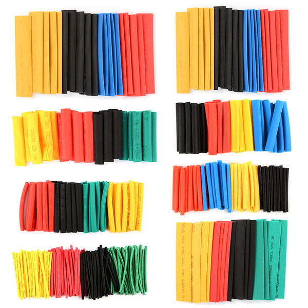 best selling 328Pcs 8 Sizes Multi Color Assortment Ratio 2:1 Heat Shrink Tubing Sleeving For Wrap 5 Colors Tube Sleeving Wrap Wire Kit