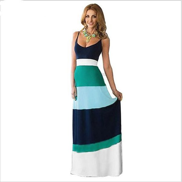 2faaea84155a6 Club Dresses Nice Summer Long Casual Dress Party Evening Elegant Beach  Women Maxi Dress Vestidos Plus