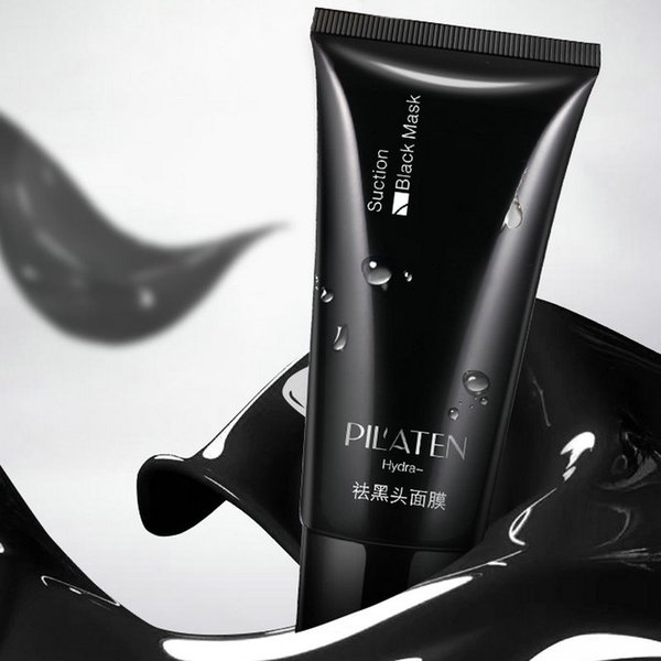HOT PILATEN Black mask Tearing style Deep Cleansing purifying peel off the Blackhead acne treatment black mud of black heads remover 60g