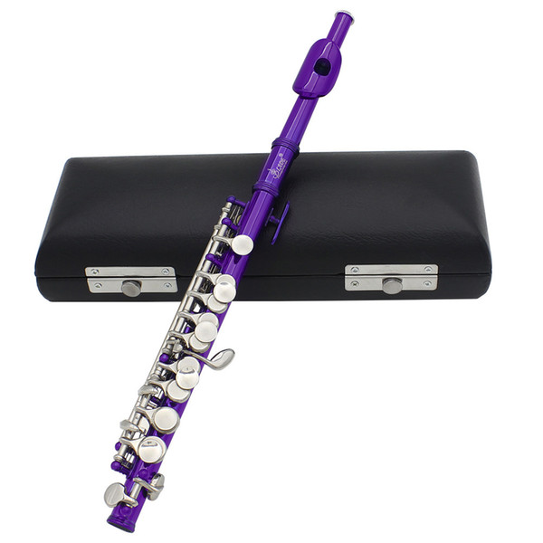 Wholesale-New Piccolo Ottavino Half-size Flute Silver Plated C Key Cupronickel with Cork Grease Cleaning Cloth Screwdriver Padded Box