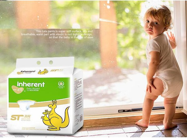 Lowest Price 2019 Factory sale Wholesale Baby Diapers Economy Pack Nappies Pant leakproof locks in urine Pull ups Size L/XL W17JS502