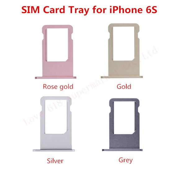 10pcs/lot SIM Card Tray Holder For iPhone 4G 4S 5 5G 5C 5S 6G 6 6S 7G 7 Plus 4.7 5.5 Replacement