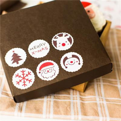 """240 pcs/lot """"Merry Christmas""""Six style Self-adhesive Hot Stamping Stickers Label Sticker DIY Hand Made Gift /Cake Paper Sticker"""