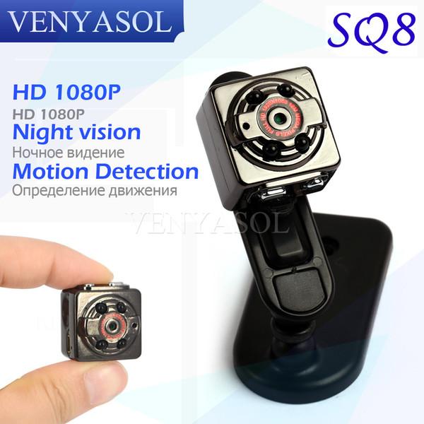 Оптово-VENYASOL SQ8 HD 720 / 1080P Спортивная мини-камера DV Voice Video Recorder Инфракрасное ночное видение Цифровая камера Маленькая скрытая видеокамера