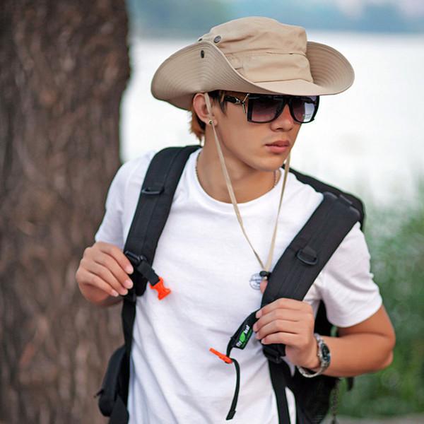 2017 Wide Brim Hats hot Fishing Hiking Military Bucket Sun Hat Cap Woodland New men hat free shipping