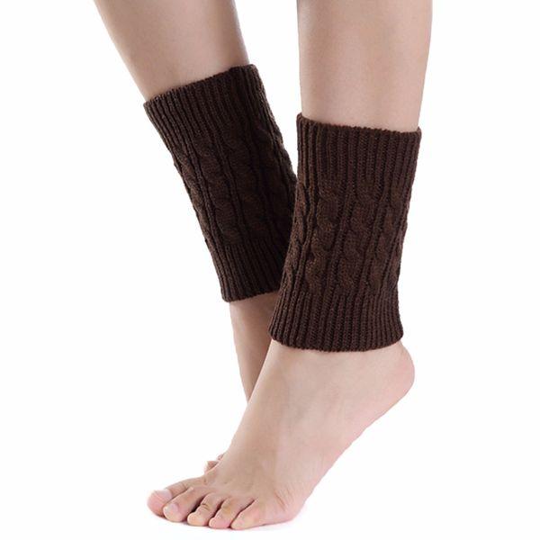 Großhandels-Frauen Winter gestrickte Stulpen Acryl häkeln Herbst Winter Socken Knit Boot Cuff Lady Mädchen Kurz Calentadores piernas mujer