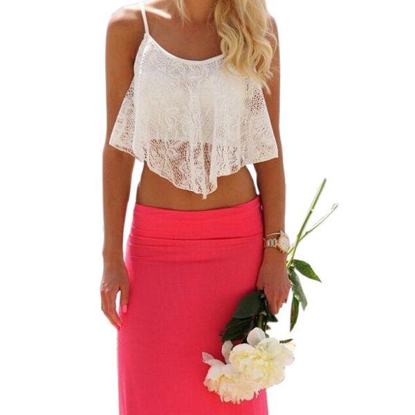 ffa5ba3b6a73d Wholesale-JECKSION Summer Style Crop Top Fashion Sexy Women Lace Floral  Hollow Out Top For Women Girl U Vintage Croptops Sportwears  LN