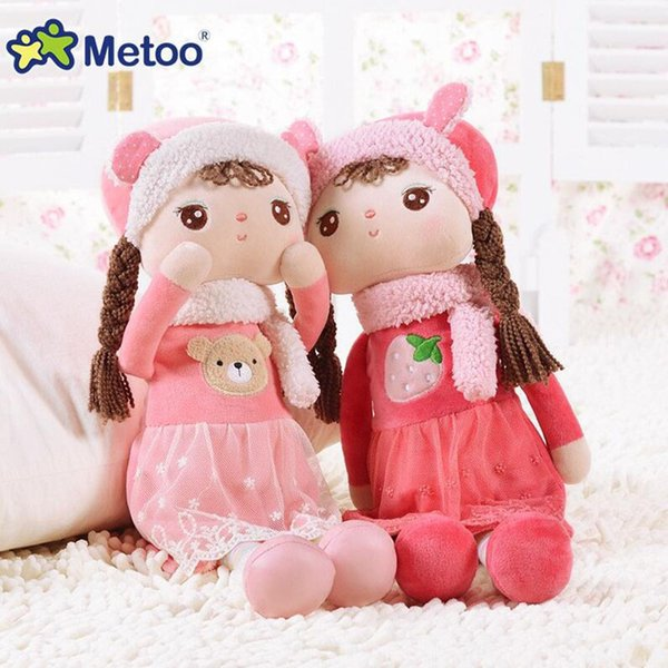 41CM Toy For Girls Metoo Angela Reborn Babies Soft Kawaii Stuffed Plush Inflatable Doll For Kid Children Christmas Birthday Gift