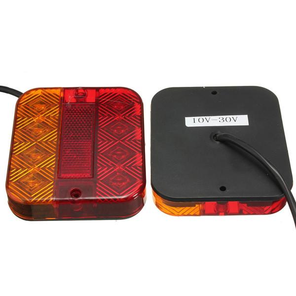 2017 Brand New 2pcs Waterproof 8 LED Stop Rear Tail Brake Indicator Light Lamp Trailer Caravan Van