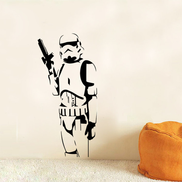Star Wars Stormtrooper Vinyl Wall Stickers Gun Sword Wall Decals