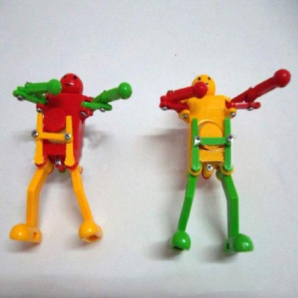 Yeni Varış toptan freeshipping çocuklar wind up oyuncaklar eğitici oyuncaklar dans robotlar rock roll robotlar benzersiz oyuncaklar 160 adet / grup