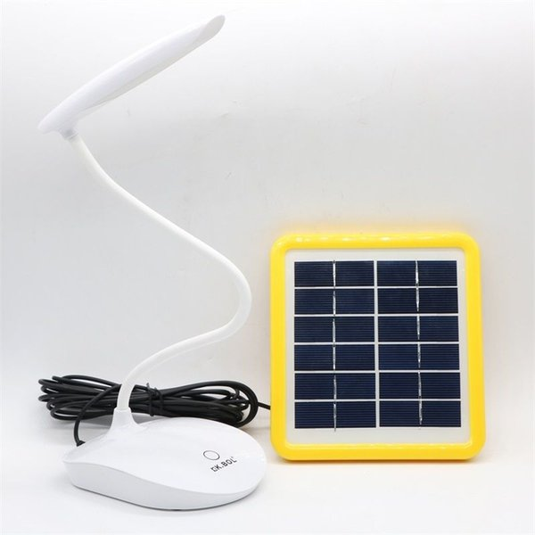 Edison2011 S-1515 6W 30 Leds Solar Powered Table Lamps USB Rechargeable Desk Light Touch Sensor Study Reading Table Lamps