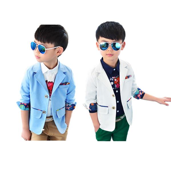 Chaqueta de capa causal sólido del muchacho de la manera chaqueta de algodón sólido del caballero para 2-8years muchachos de los niños niños de los estudiantes ropa de abrigo causal caliente