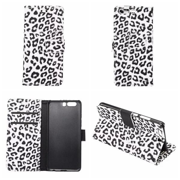 Leopard Portefeuille En Cuir Pour Galaxy S9 S8 / Plus / LG G6 / Huawei P10 / Plus Animal Case Flip Cover En Plastique Stand Crédit ID Carte Poche Titulaire PC
