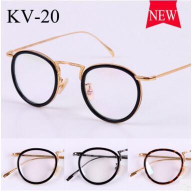 Gold glass frame VINTAGE frames KV-20 male ultralight myopia restoring ancient ways smooth light round framework