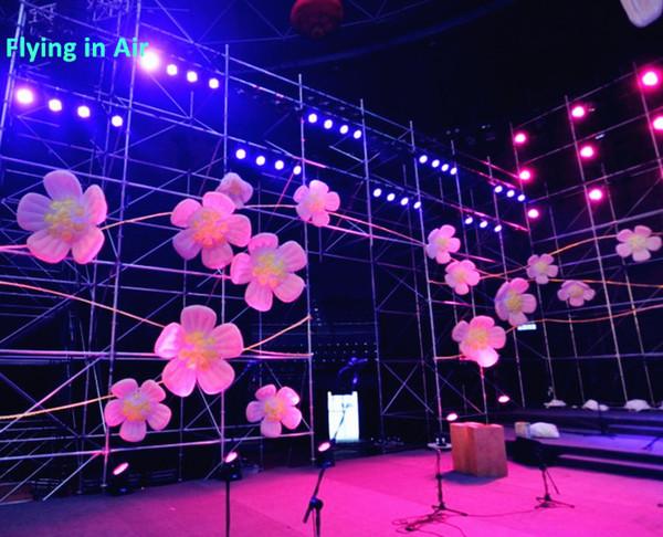 Aydınlatma Şişme Çiçek Asılı Şişirilmiş Pembe Çiçek Konseri Erik Çiçeği, Sahne / Konser