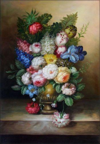 Hand Painted Still Life Art oil painting Vivid Flowers,Print On High Quality Canvas Home Wall Decor size can be customized