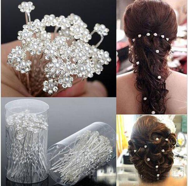 Cheapest 5pcs For Sale 2017 Bridal Pearl Hairpins Flower Crystal Pearl Rhinestone Hair Pins Clips Bridesmaid Ladies Hair Jewelry