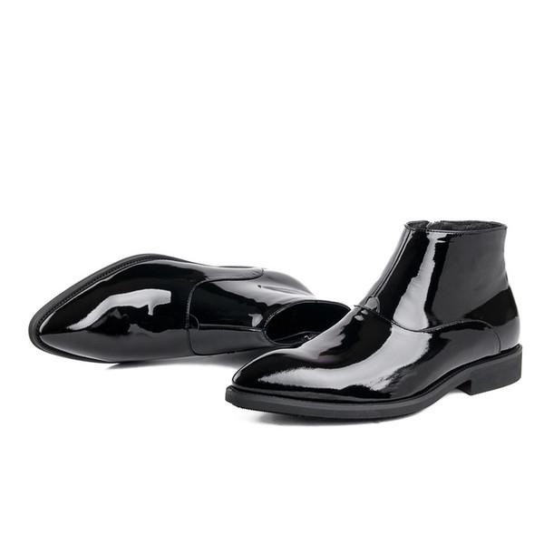 Hommes En 96 Du Acheter Bottines Pantent De Chaussures Noir Robe Hommes Mode Formelles Bottes Chaussures Mariage De90 Cuir Bottes Brillant nPOk0w
