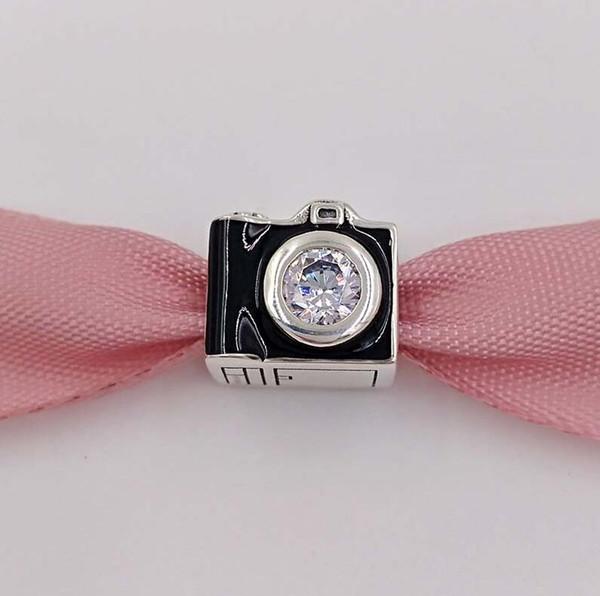 d3b589942 Authentic 925 Sterling Silver Beads Sentimental Snapshots Charm Fits  European Pandora Style Jewelry Bracelets 791709CZ Camera