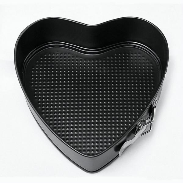 Toptan-AMW 9 Inç Kalp Şekli Çıkarılabilir Alt Pişirme Pan Springform Yapışmaz Metal Kek Kalıbı