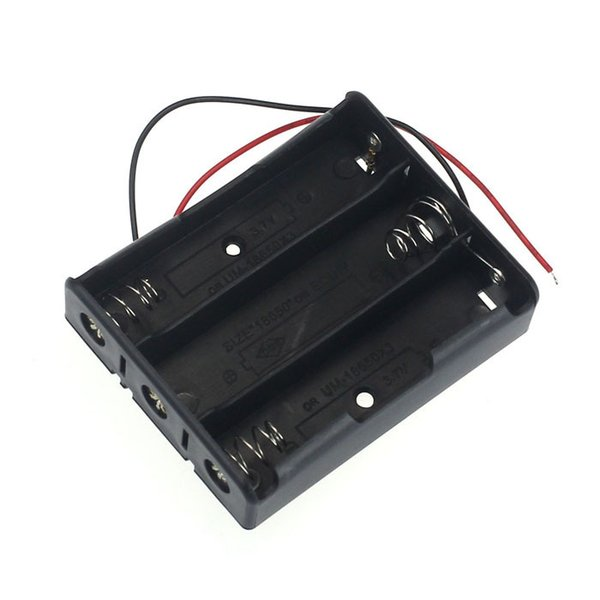 1pcs Plastic 3 Way 18650 Battery Storage Case Box Holder for 3x 18650 Batteries with Wire Leads <$15 no track